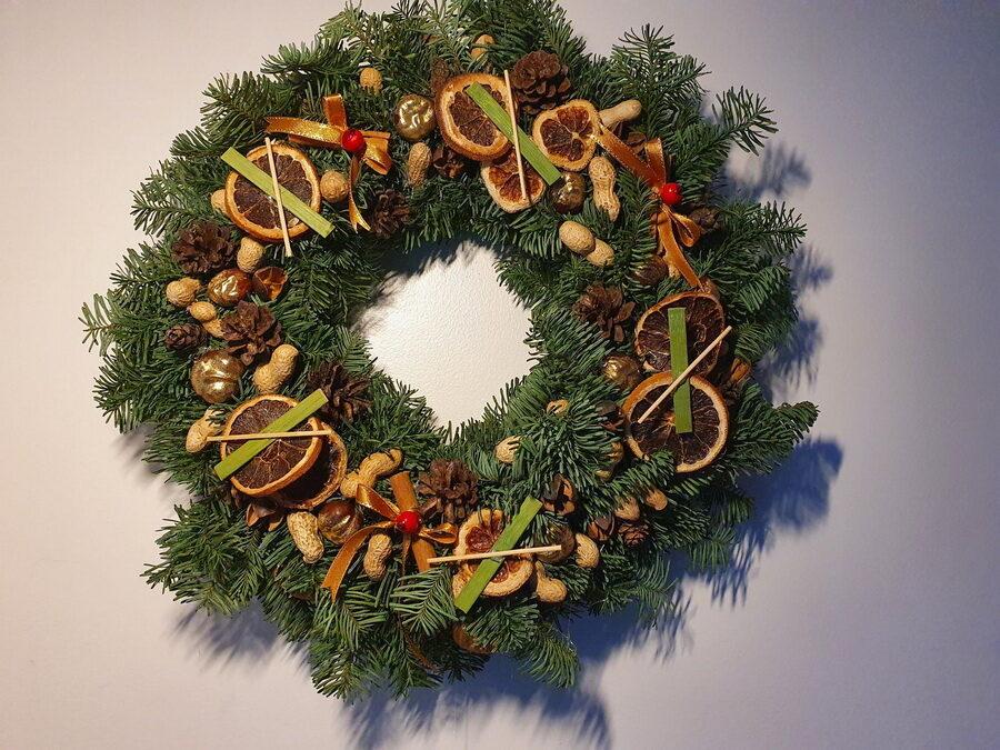 Kalėdinis vainikas/ Kvepiančios Kalėdos